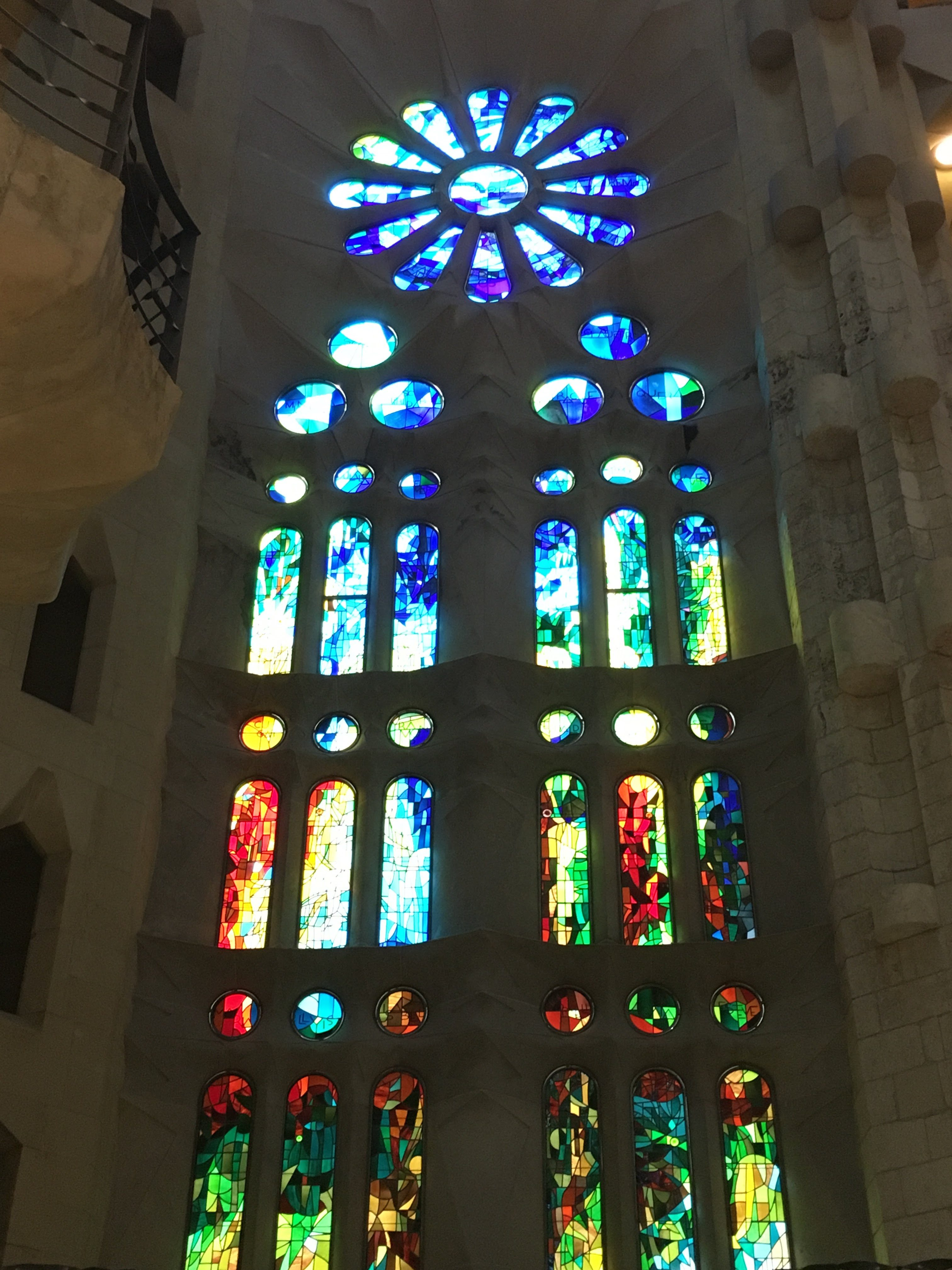 The Beautiful Stained Glass of Sagrada Familia